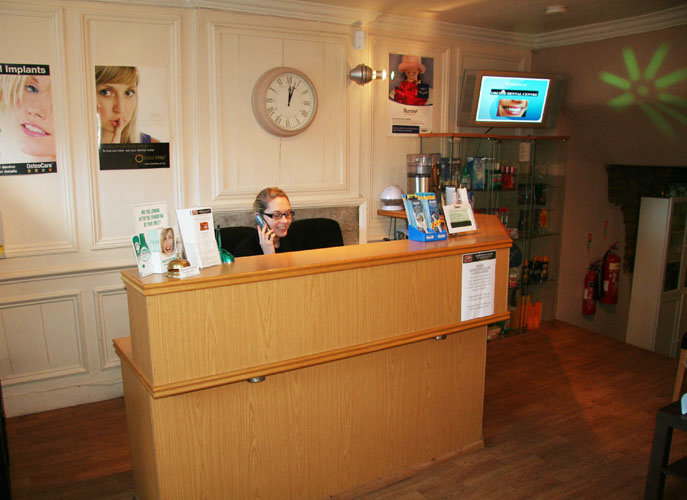 Orchid Dentist reception in Brackley, Northants